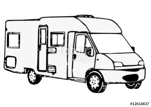 camping car dessin