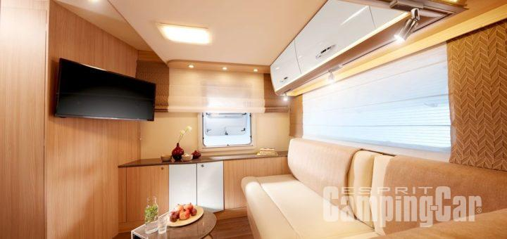 camping car integral avec salon arriere