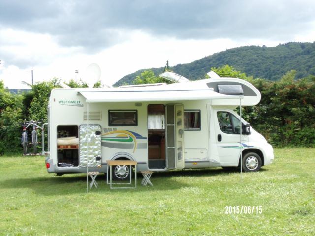 location camping car journee