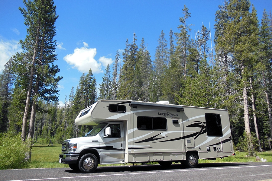 location camping car wyoming