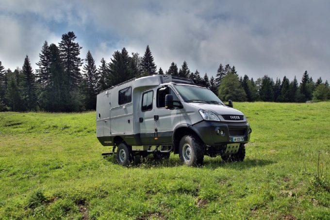 camping car iveco 4x4
